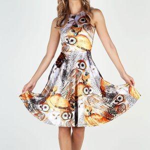 NWT 🦉✨ Blackmilk Audubon Owls Velvet Midi Dress M